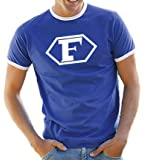 Touchlines Captain Future Logo Kontrast / Ringer T-Shirt, Royal/White, Roy/Wh Größe: XXL