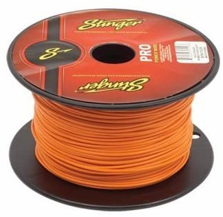 50 Foot Section of Stinger 18 Gauge Orange Primary Remote Wire