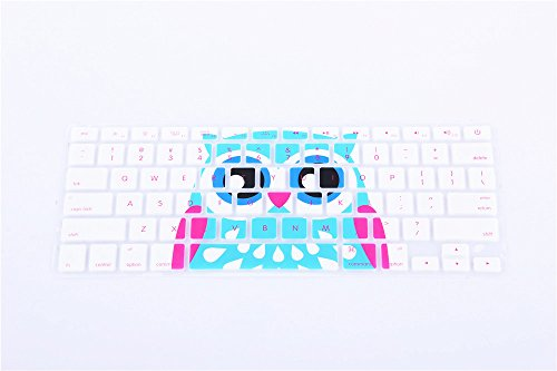 Liujie Ultrathin Silicone Keyboard Cover for Macbook, Macbook Pro, Macbook Air, and iMac, 13, 15, and 17 Inch, With/Without Retina Display (white owl) (Powerbook Keys Keyboard)