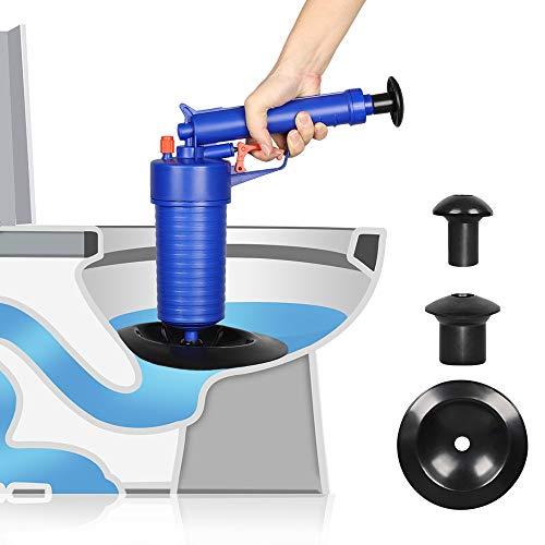 Toilet Plunger, Air Power Drain Blaster Gun High Pressure Drain Clog Remover Tool Drain Cleaner Opener Pump for Bath Toilets, Bathroom, Kitchen Clogged Pipe Bathtub