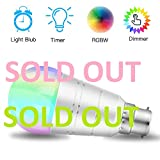 Wifi Smart Bulb Colour Dimmable LED Light B22 Bayonet 60W Equivalent Bulb 810LM, Remote Control by Smart Device & Voice Control by Amazon Alexa & Google Home, No Hub (B22 9W 2700K Warm White)