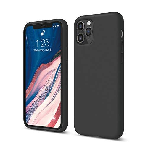 elago iPhone 11 Pro Silicone Case |Black| - Premium Liquid Silicone, Raised Lip (Screen & Camera Protection), 3 Layer Structure, Full Body Protection, Flexible Bottom