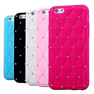 JAJAY Shiny with Diamond Silicone Soft Case for iPhone 6 Plus (Assorted Color) , Pink