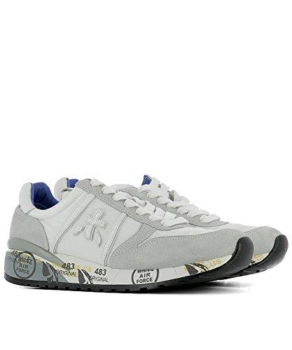 Sneakers Mujer Premiata Diane2175 Blanco / Gris Suede