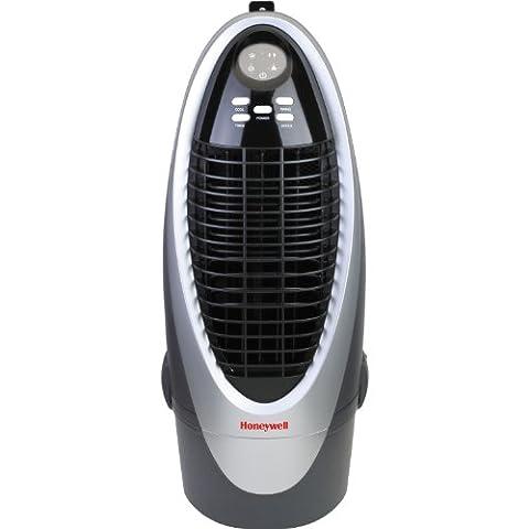Honeywell CS10XE 300 CFM Indoor Evaporative Air Cooler (Swamp Cooler) with Remote Control in (Evaporative Cooler Portable)