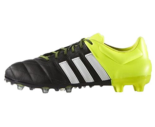 adidas Ace 15.2 FG/AG Leather Mens Soccer Cleats, Size Black