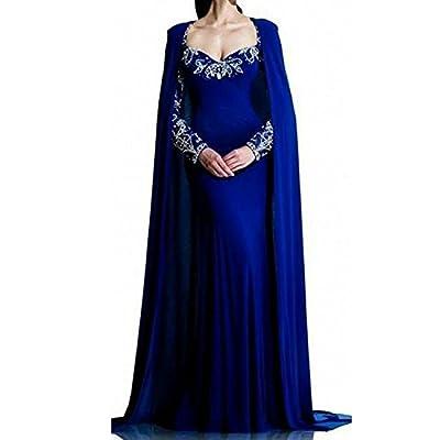 QSL Womens 2017 Beaded Arabic Dubai Evening Gowns Maxi Kaftan Muslim Wedding Dress