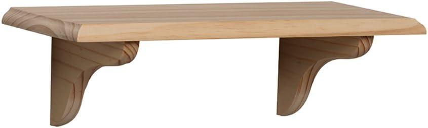 Shelf-Made KT-0148-818UF Wood Shelf Kit, Unfinished, 8-Inch by 18-Inch