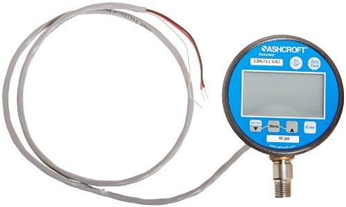 Ashcroft Type 2274 Stainless Steel Case Dry Filled Digital Pressure Gauge, Stainless Steel Socket and Sensor, 3