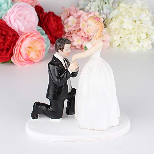 ️ Yu2d ❤️❤️ ️Romantic Bride and Groom Wedding Cake Decoration ()