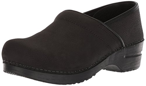 Sanita Women's Professional Oil Closed Oiled Leather Black Leather Clog - - Sanita Oiled Clogs