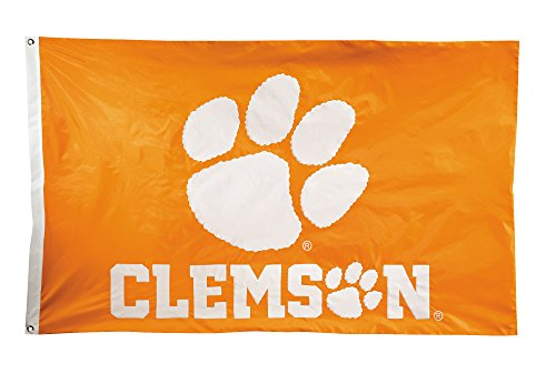 (BSI NCAA Clemson Tigers 2-Sided Nylon Applique Flag with Grommets, 3' x 5', Orange)