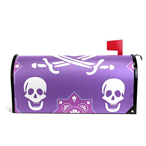 (Skull and Crossed Swords Magnetic Mailbox Cover Oversized-25.5