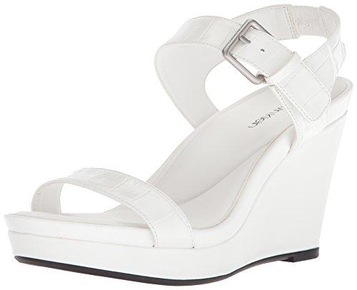 Women's Platinum Klein White Calvin Jacie Sandal 6wzxq7
