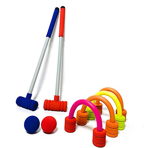 Forevive Children's Croquet Set Elastic Sponge Double Croquet Set Indoor
