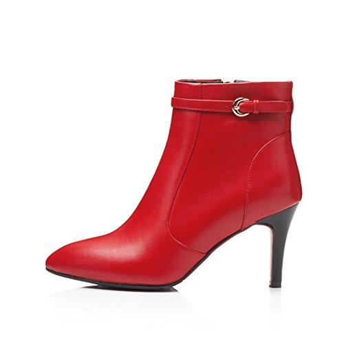 Herbst Heels Leder mit Absatz ANNIESHOE Damen Boots Ankle Stiefeletten High Frauen BCvFwTq