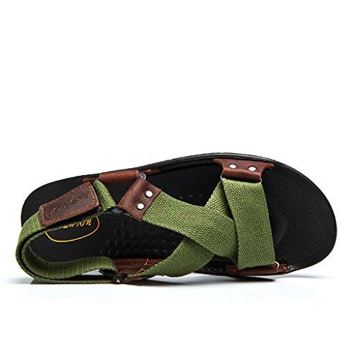 ZXCV Zapatos al aire libre Zapatos ocasionales de las sandalias de los hombres Verde