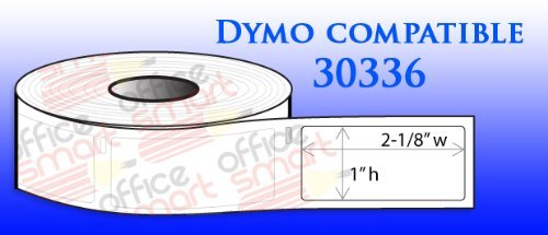 6 Rolls | OfficeSmart 1'' x 2-1/8'' Multipurpose Labels 500 labels per roll | Dymo 30336 Compatible for DYMO LabelWriters 330 400 450 Twin Turbo Duo 4XL Printer