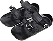 Mini Ski Shoes - Short Skiboard Snowblades Adjustable Snowshoes, Universal Size for Most of Adults, Outdoor Sk