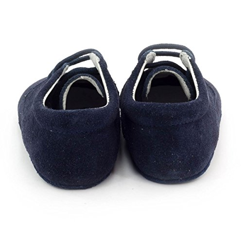 Boni Classic Shoes - Zapatillas de Estar Por Casa de ante Niño azul marino