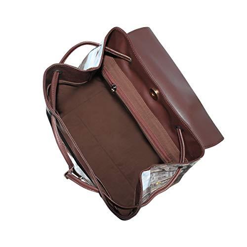 Eiffelhandduk konst ryggsäck handväska mode PU-läder ryggsäck ledig ryggsäck för kvinnor