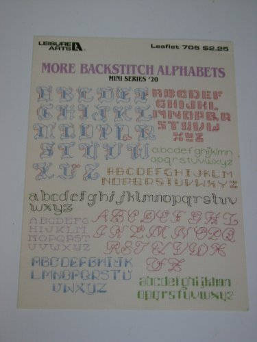 More Backstitch Alphabets - Mini Series #20 - #705 - Counted Cross Stitch Patterns - Leisure Arts ()