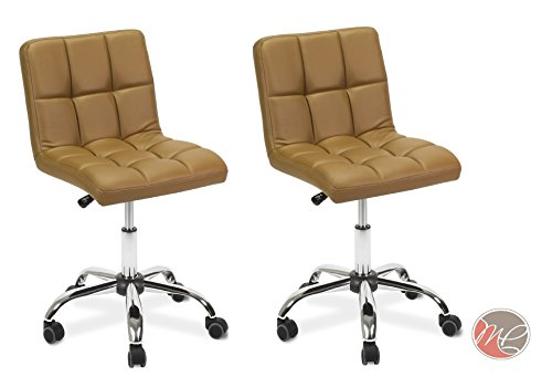 Madison & Park SET OF 2 Easy Glide Office Chair TTO CAPPUCCINO Desk Chair Task, Home, or Office Chair Office (Madison Office Set)