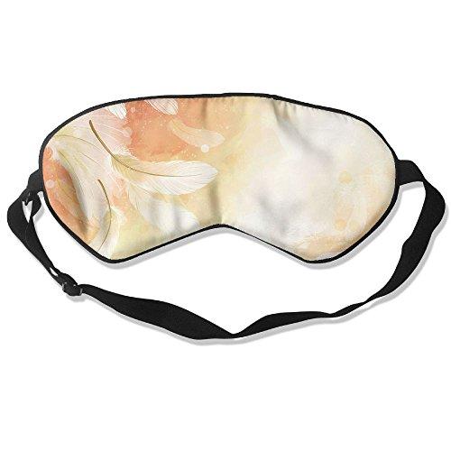 (Silk Sleeping Mask Eye Feathers Flight Paint Bright Lightweight Soft Adjustable Strap Blindfold for Night's Sleep Nap Travel Eyeshade Men and Women)