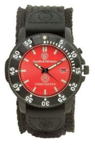 smith-wesson-mens-sww-455f-fire-fighters-red-dial-black-band-watch