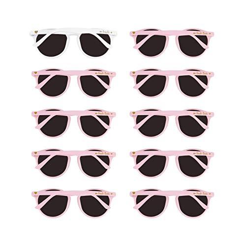 Bridal Shower Favors Bachelorette Party Supplies 10pcs Round Pink Weddings Sunglasses