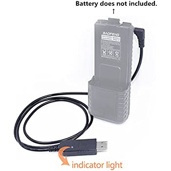 Amazon.com: USB Cable Battery Charger with Indicator Light + ...