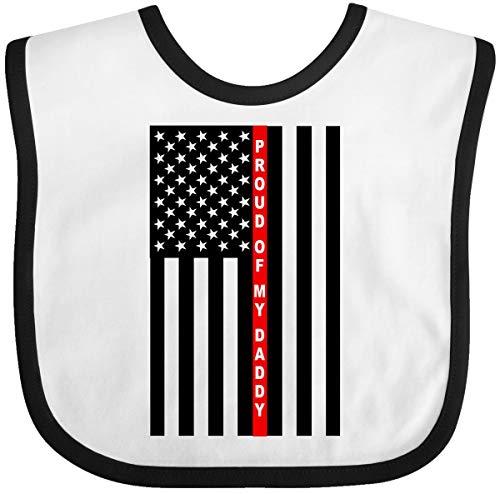 Inktastic - Firefighter Daddy Flag Baby Bib White/Black 3242f