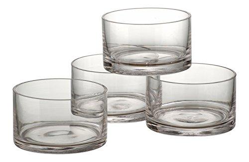 Glass Cylinder Bowls - Artland Simplicity set of 4 Nappies