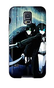 HessMasonn Design High Quality Black Rock Shooter Cover Case With Excellent Style For Galaxy S5