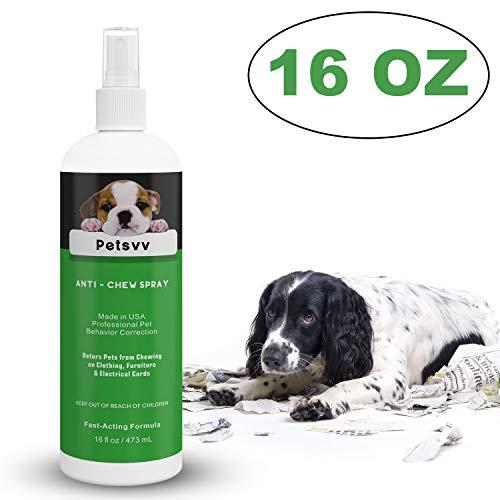 Petsvv 16oz Anti Chew Spray Deterrent for Dogs,