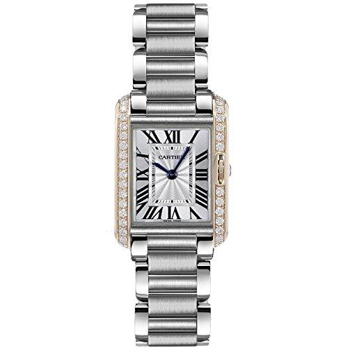 Cartier Tank Anglaise Diamonds Bezel Small Ladies Watch W3TA0002