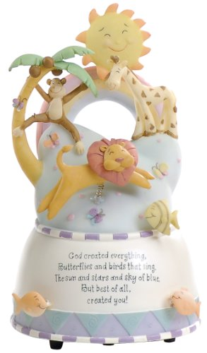 Roman God Created Everything Baby Musical with Animals, 6-1/2-Inch