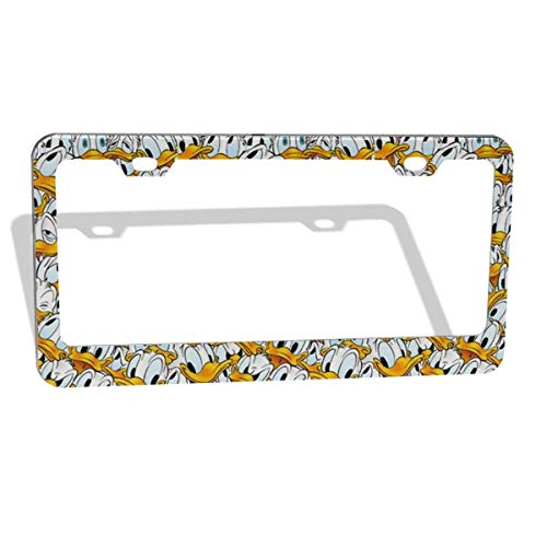 48 Donald Duck - HYLSJY License Plate Frame Personalized - Donald Duck Design and Make Your Own Customized Automotive High Gloss Metal License Plate -Standard Non Anti-Theft Model