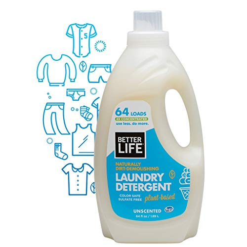 Better Life Laundry Detergent, Unscented, 64 Ounces (Packaging May Vary)