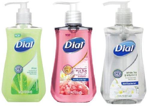 Moisturizer Liquid Dial (Dial Antibacterial Liquid Hand Soap with Moisturizers 3-Piece Bundle, 7.5 fl. oz., Aloe, Himalayan Pink Salt & Water Lily, White Tea & Vitamin E)