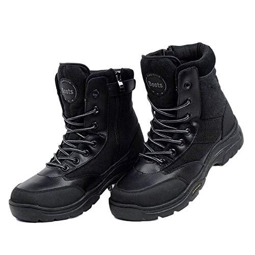 E Nero Uomo Traspirante in Pelle Special Forze Black Autunno High Militare Inverno Tattico Stivali Antiscivolo Leggero Combattimento Top ZUq1nHwpx