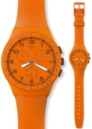 Swatch ChronoPlastic Wild Orange Unisex Watch - - Orange Swatch