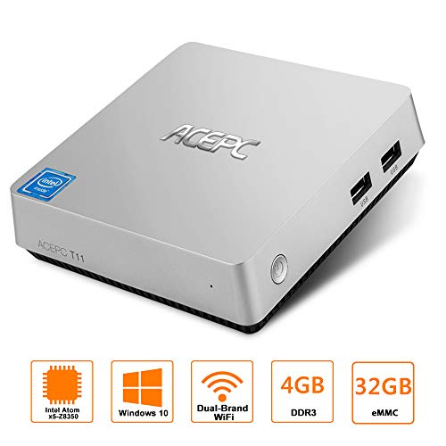 Mini PC,ACEPC T11 Fanless Mini Desktop Computer Windows 10 6
