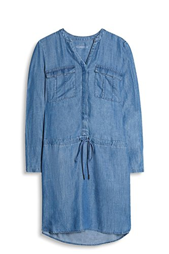 Damen by Wash ESPRIT Medium 902 Kleid Blau Blue edc a6WqxSRwS
