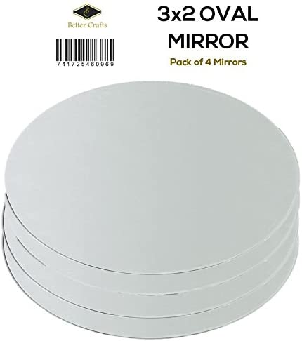 Classic, 1 - Pack Shipping Included Darice - Round Glass Mirrors 25//Pkg