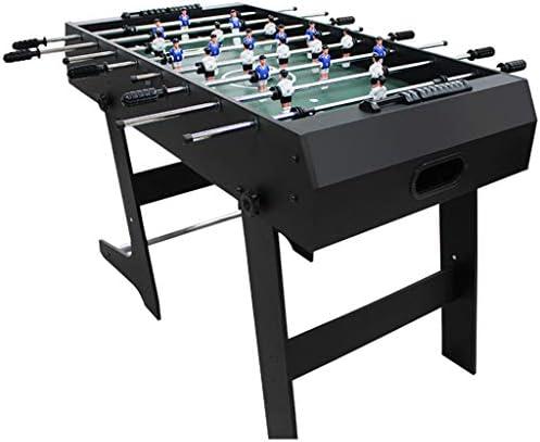 折りたたみ式テーブルサッカーマシン8ホーム大人用サッカーマシン子供用テーブルフットボールのおもちゃ親子インタラクティブビリヤードマシン子供の知的発達玩具 (Color : BLACK, Size : 61*122*80CM)