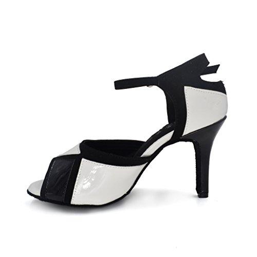 misu - Zapatillas de danza para mujer Multicolor negro y gris WJVuQkeMW3