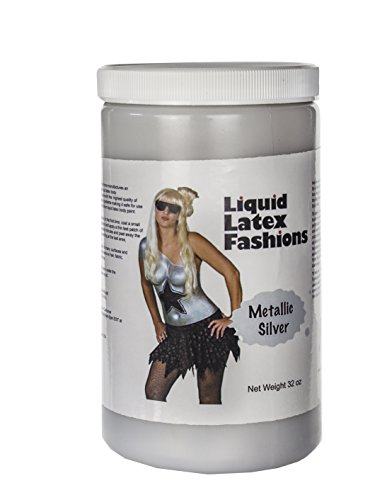 [Ammonia Free Liquid Latex Body Paint - 32oz Metallic Silver] (Body Paint Costumes For Halloween)