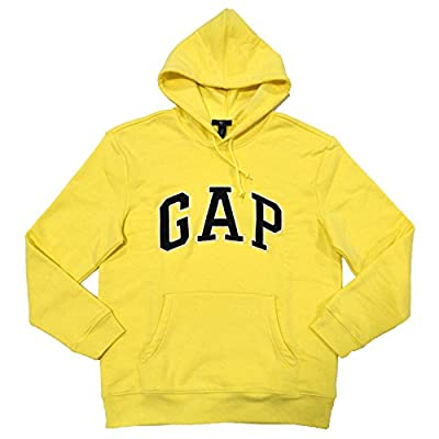 GAP Mens Fleece Arch Logo Pullover Hoodie (Gap Yellow, M)