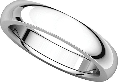 Mens Platinum, Heavy Comfort Fit Wedding Band 4MM (sz 10) (Platinum Ring Heavy)